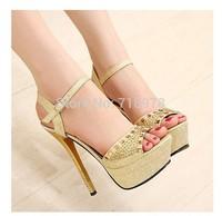 5 fashion sexy bling beads hasp open toe platform stiletto sandals 976