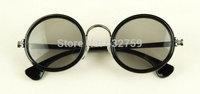 Free shipping New European and American pop round frame metal sunglasses eyewear