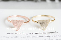 triangle plate unique knuckle ring, stretch couple rings,antique vintage style color gold/silver/rose gold