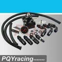 J2 Racing Store- Full Black AE STYLE 7MGTE MKIII Fuel Pressure Regulator with hose line kits.Fittings.Gauge