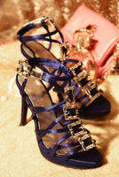 New Style Silk Crystal Beautiful sandals  shoes woman