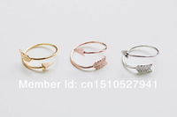 Free Shipping Arrow Knuckle Ring Size Adjustable Daily Jewelry Layering With Other midi Rings color gold/silver/rose gold
