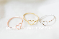 mini heart knuckle ring,heart knuckle jewelry,mid ring,wedding gift,bridesmaid gift color gold/silver/rose gold