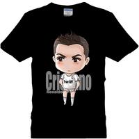 C 2014 summer t-shirt real madrid t-shirt 100% cotton short-sleeve football cup