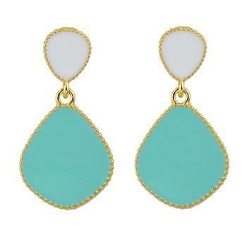 Min Oder $5 Candy Color Enamel Dangle Earrings For Women
