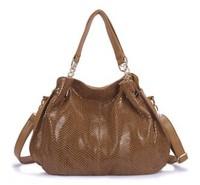 2014 Hot Promotion   quality WEIDIPOLO brand Snakeskin Genuine leather handbag for women fashion designer messenger bag