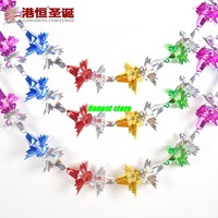2pcs  260 * 25cm Christmas dress layout  thick colorful Christmas garland / Christmas color bar