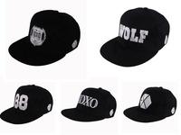 2014 new Korea style black EXO leisure baseball caps fashion hip top hats