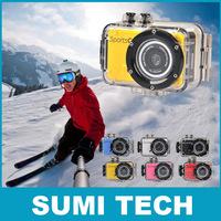 New HD 720P Action Camera waterproof sport cam camera DVR Water sport camcorder Gopro Style mini DV  Mini DV 120 Wide Angle