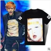BTS bangtan boys bulletproof Cadet HBA same paragraph kids grimace baby face short-sleeved T-shirt right Zhilong