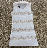 2014 Summer New Arrival Fashion girls dresses Handmade sequins White sundress 6T-12T 4PCS/LOT