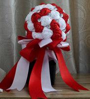 2015 Wedding dresses Crystal Satin Wedding Bouquet  Multicolor Elegant Bride Holding Flowers Handmade