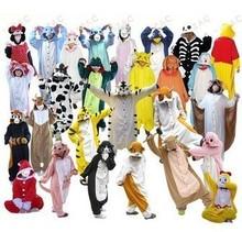 Men Women Unisex Adult Onesie Winter Animal Pajamas Costume Footed Panda Sleepwear/Adult footed pajamas/Couples Pajamas(China (Mainland))