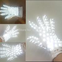 1PCS LED Stage Wreless LED gloves / luminous gloves for Michael Jackson Billie Jean Dance (Left or right hand)-white