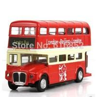 Acousto-optic version double-decker London bus double-decker buses alloy model car back to the car double-decker bus