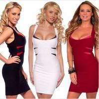 European Style New 2014 Fashion Women Bandage Dress Sexy Party Bodycon Women's Clubwear Slim Hip Sleeveless Evening Dress
