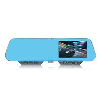 Car Rearview With 4.3 Inch LCD HD 1080P DVR And One Key Phone Bluetooth Mp3 Player Function