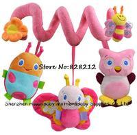 Free Shipping! Infant Baby Multipurpose Bed Circle&Round Toddler Crib Bed Round Baby Musical Plush Animal Toy 1pcs TY-14019
