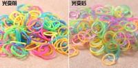 100packs  The luminous band glows at night Loom Band Refill Rubber Band Bracelet DIY (600 pcs bands + 24 pcs S-clips )
