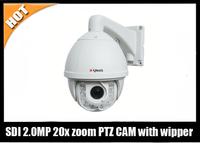 HD SDI 150 IR Distance 2.0 Megapixel  Outdoor Waterproof 1080P 20X zoom  PTZ Camera
