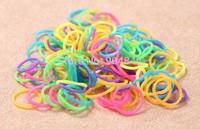 1000packs mixed color  luminous band glows at night Loom Band Refill Rubber Band Bracelet DIY (600 pcs bands + 24 pcs S-clips )
