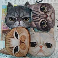 Korea Cat wallet /coin purse/card bag /cosmetic bag  cartoon animal print bag