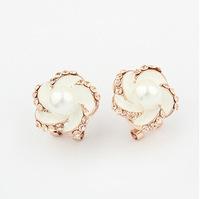 YXSP1567       2014 new fashion   Fashion pearl flower boutique   earring for women