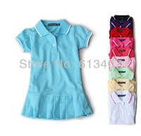 Children Dress(1-5y) New Spring Summer 2013 Baby/Infant Girls Brand Polo Dress children/kids Princess tennis One-piece Dresses
