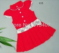 Free Shipping Summer 2013 100%cotton Retail wholesale Infant/Baby Girls Dress Children/Kids Princess tennis Dresses