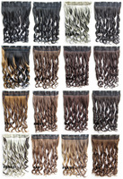 Hair Extensions Synthetic Curly  wig Hair 5 Clips In on Hairpiece ponytail 50 colors available,130g,60cm 03019