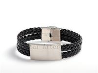 PU Leather Bracelet High Quality  Fashion Black Casual Fashion Jewelry Wholesale Factory Price