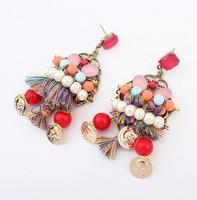 YXSP1571       2014 new fashion   Colorful Bohemian     earring for women