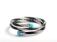 Free Shipping Vintage Retro Cuble Zinc Stainless Steel Bracelet Colorful Jewelry Wholesale