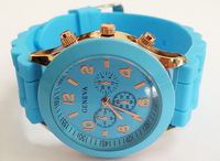Geneva New  Women Dress Watch 2014 Quartz Military Men Silicone Sport Watches Unisex Wristwatch Free shipping 013