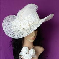 Wedding Veils Long Veil Hot Sale Brown Accessories Bride Wedding hat Fashion Factory Outlets Revel New Handmade Lace Hat Women
