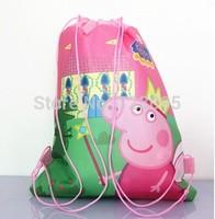 10 pcs peppa pig school bag peppa saco bolsa sacola Cartoon backpack Bag-woven fabrics Kid's Schoolbag children's birthday gift