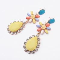 YXSP1579       2014 new fashion  Alloy big diamond gem   earring for women