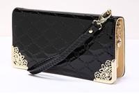 2014 new hot sale fashion  women ladies wallet pu leather design pattern wallet high quality clutch purse