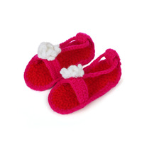 2014 Baby Handmade Crochet Shoes 100% Cotton Crib Shoes Footwear First Walkers Shoes(3 pairs/lot)4 Colors