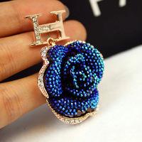Famouse brand earrings  European and American  gold letters  earrings super beautiful camellia earrings earrings female