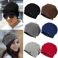 2014 Fashion New Unisex Women Men Winter Ski Hat Slouch Baggy Hip Hop Knit Crochet Cap Beanie 6 Colors