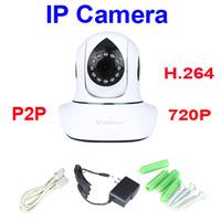 CCTV wifi HD IP Camera IR-Cut 720P Plug&Play P2P Network Pan Tilt Wireless Wifi Micro SD Card Indoor Security Camera