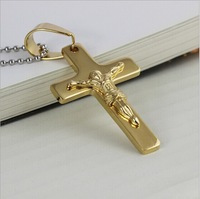 Wholesale European and American jewelry 18K gold-plated religious cross of Jesus pendant necklace jewelry hot AliExpress