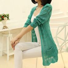 Sweaters 2014 women fashion Summer  Cardigan heart Long Sleeve Sweater femininas Cardigans women's coats cheap Free Shipping(China (Mainland))