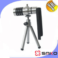 12x Zoom Optical Telephoto Lens Mobile Telescope Camera W/ Tripod Case Retail box for IPhone 5 5S 4 4S NOTE3 Galaxy S3 S4