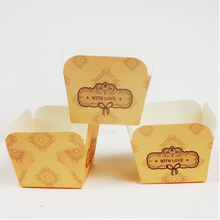 WITH LOVE Paper Cake Cup Liners Mini Paper Baking Cups Cases Wedding Favors 200pcs/lot CK174(China (Mainland))