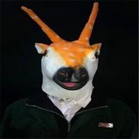 Latex animal mask car elk wigs cos