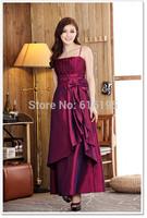 Free Shipping Uncommon 2014 Fashion Satin Evening Dress