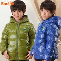 2014 Promotion Winter Baby Beer Printing Brand Kids Down & Parkas Children Duck Boy Wadded Waterproof Warm Coats With Hoodies