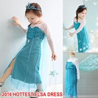 elsa costume child frozen costume princess elsa cosplay halloween costumes for children fantasy snow queen frozen dress